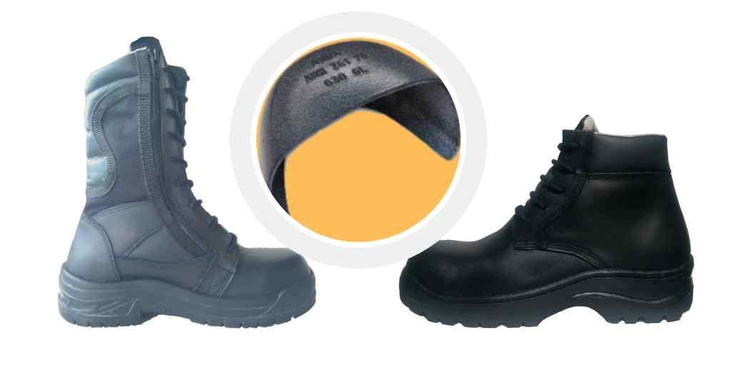 Casco de acero utilizado para fabricar nuestras botas industriales