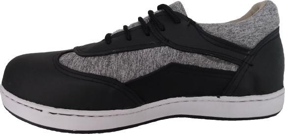Tenis industriales con casquillo de acero suela deportiva con piso negro