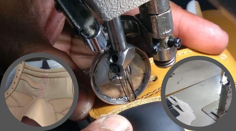 costura del calzado