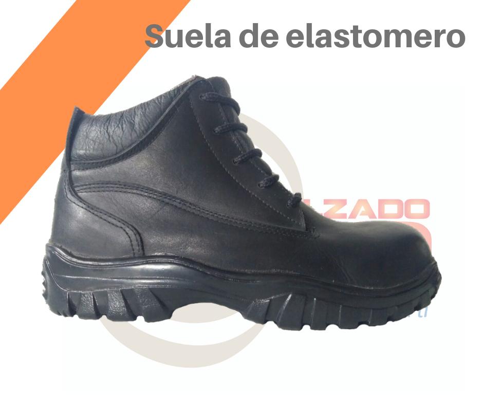 Botas con suela de elastómero
